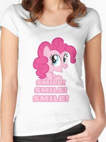 Pinkie Pie - Smile! Smile! Smile! (My Little Pony: Friendship is Magic) Women's Fitted Scoop T-Shirt
