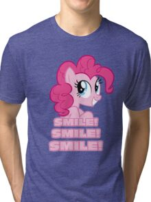 Pinkie Pie - Smile! Smile! Smile! (My Little Pony: Friendship is Magic) Tri-blend T-Shirt