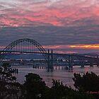 Yaquina Bay Bridge at Sunrise by cjfehr