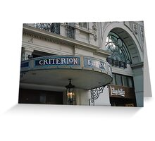 Criterion Greeting Card