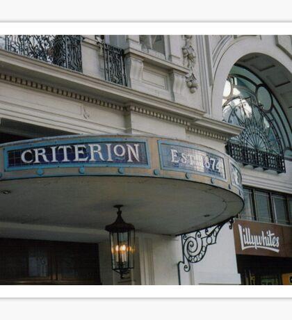 Criterion Sticker