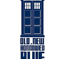 TARDIS - old, new, borrowed, blue by Zoe Toseland