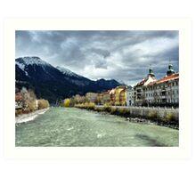 The Inn River-Innsbruck. Art Print