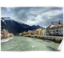 The Inn River-Innsbruck. Poster
