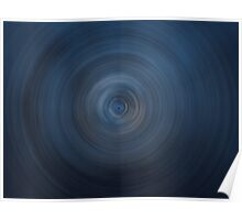 Blue round abstract background Poster