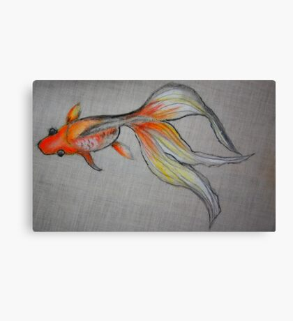 Goldfish Pond (close up #6) Canvas Print