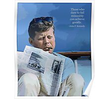 Painting John F. Kennedy and quotation Poster