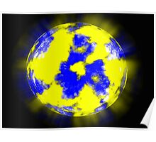 Unknown planet on a dark blue background Poster
