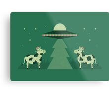 Merry Abduction Metal Print