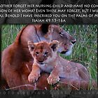 Isaiah 49:15-16a Lioness & Cub by FathersWorld
