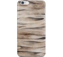 Wooden Texture painted in watercolor iPhone Case/Skin