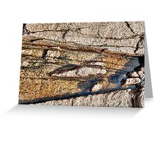 Fracture Pattern in Granite Greeting Card