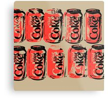 Diet Coke Can III Metal Print