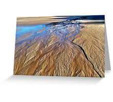 Rivulets on Sand Beach Greeting Card