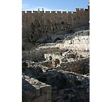 Excavations, Old City Jerusalem Photographic Print