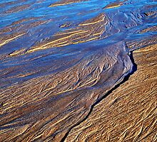 Rivulets on Sand Beach 2 by reedonly