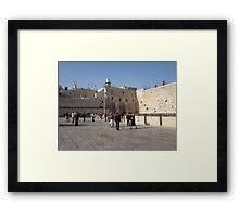 Western Wall Plaza, Jerusalem Framed Print