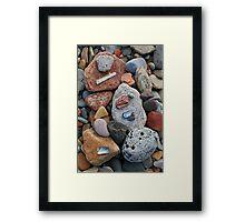 Look what I found, Saltburn beach Framed Print
