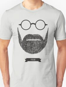 Beards with Glasses – Sigmund Freud Unisex T-Shirt