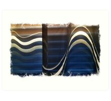 Sheer Blind Window Wave Art Print