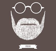 Beards with Glasses – Sigmund Freud in White Unisex T-Shirt