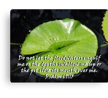"""Psalm 69:15"" Color by Carter L. Shepard Canvas Print"