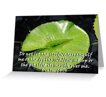 """Psalm 69:15"" Color by Carter L. Shepard Greeting Card"