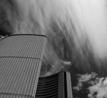 Streaks And Puffs Over City Hall by Gary Chapple