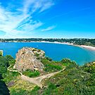 """Cliff View of La Cotte, Ouaisne, and St Brelade's"" by Bradley Shawn  Rabon"