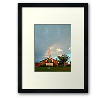 A LUCKY SHOT... RIGHT PLACE AT THE RIGHT TIME.   Framed Print