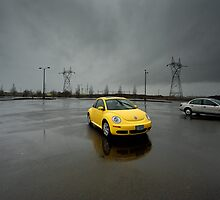 Yellow Volkswagen by Lee LaFontaine