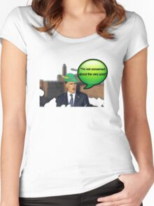 Mitt Romney i'm not concerned about the very poor robin hood 2012 Women's Fitted Scoop T-Shirt