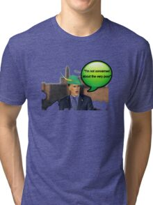 Mitt Romney i'm not concerned about the very poor robin hood 2012 Tri-blend T-Shirt