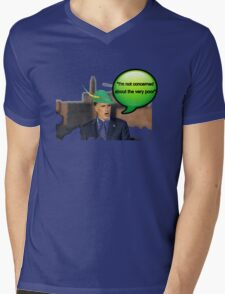 Mitt Romney i'm not concerned about the very poor robin hood 2012 Mens V-Neck T-Shirt