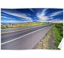Mountain highway, Hawaii Poster