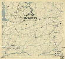 August 18 1944 World War II Twelfth Army Group Situation Map by allhistory