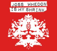 """Joss Whedon Is My Shrink"" - Light Kids Tee"