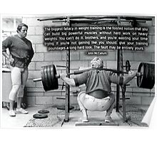 John McCallum - The Biggest Falalcy in Weight Training Poster