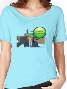 """It's not Romney hood"" funny robin hood tax dodge shirt Women's Relaxed Fit T-Shirt"