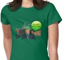 """It's not Romney hood"" funny robin hood tax dodge shirt Womens Fitted T-Shirt"