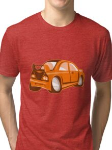 Cartoon style sports car isolated Tri-blend T-Shirt