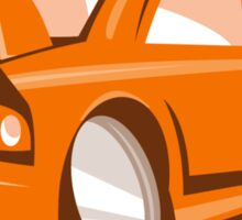 Cartoon style sports car isolated Sticker