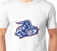 st. george fighting dragon with sword retro Unisex T-Shirt