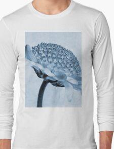 Chrysanthemum Cyanotype Long Sleeve T-Shirt