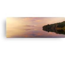 Dawn mist panoramic Canvas Print