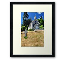 An old, small stone church Framed Print