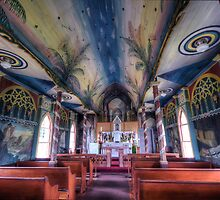 Painted church, Hawaii by fearonwoodphoto