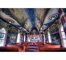 Painted church, Hawaii Photographic Print