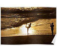 Beach Cheerleading Poster