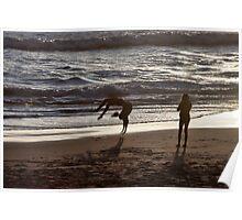 Beach Back Flips Poster